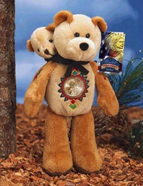 Gold coin Teddy Bear