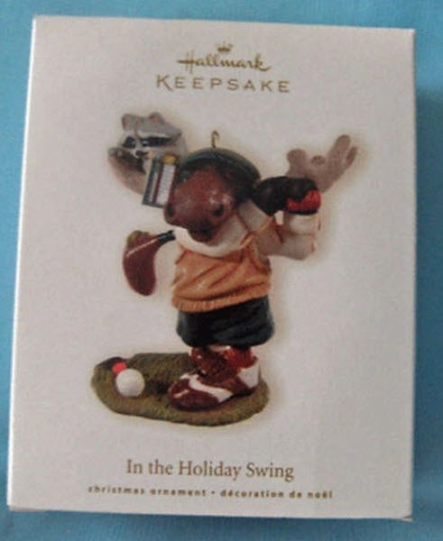 CHRISTMAS ORNAMENT 2008 Hallmark IN THE HOLIDAY SWING Xmas Ornament
