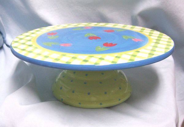 CAKE PLATE: Pedestal Cake Plate Stand by Holiday Home Designed by Ellen Crimi Trent