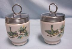 EGG CODDLERS: Vintage Royal Worcester Egg Coddlers England w/Green Back Stamp