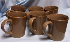 COFFEE CUPS, MUGS: Set of (6) Coffee Cups/Coffee Mugs by Karen Neuburger - Willow Collection