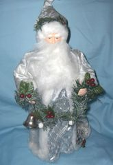 "CHRISTMAS TREE TOPPER - Vintage HOLIDAY DECOR 16"" Porcelain SANTA TREE TOPPER"