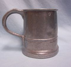TANKARD: Vintage Wilton Armetale Pewter Beer Stein Nogging Mug Tankard