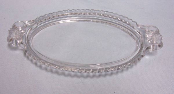 ELEGANT GLASS TRAY: Small Clear Elegant Glass Tray with Handles for Displaying Small Items