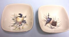 SAUCE DIP BOWLS: Vintage Sauce Dip Bowls from American Home Collection by Lenox - Winter Greetings
