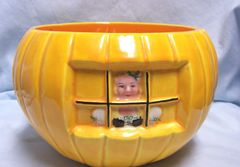 HALLOWEEN/THANKSGIVING DECOR: Open Candy Dish or Base to Peter Peter Pumpkin Eater Cookie Jar