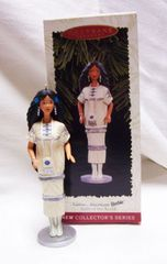 CHRISTMAS ORNAMENT - 1996 Mattel BARBIE Native American Xmas ORNAMENT