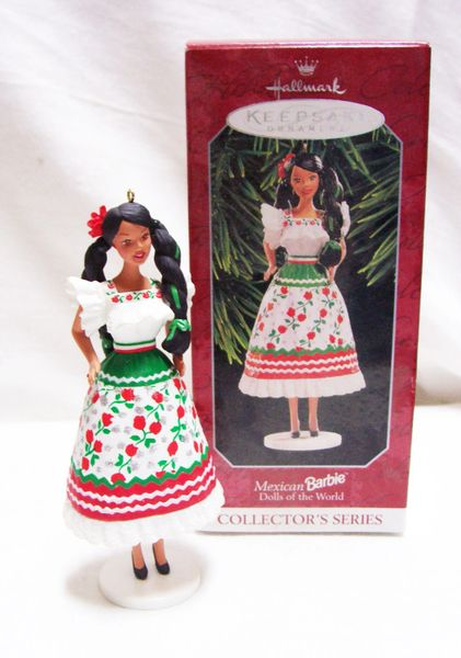 CHRISTMAS ORNAMENT - 1998 BARBIE Mexican Christmas ORNAMENT Mattel