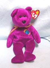 BEANIE BABY: Collectible Ty Beanie Baby Original - Beautiful Purple Millenium (With one 'n' instead of 'nn')
