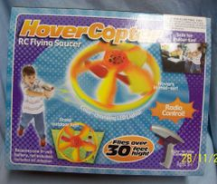 TOY: HoverCopter RC Flying Saucer for Loads of Outdoor Fun Changing LED Lights Battery Operated