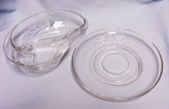 RELISH DISH & UNDER PLATE: Divided Relish Dish/Underplate by Fostoria ROSE