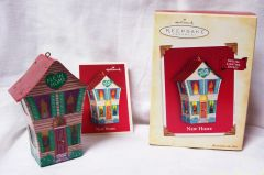 CHRISTMAS ORNAMENT - 2004 Hallmark NEW HOME Ornament with Special Lighting effects
