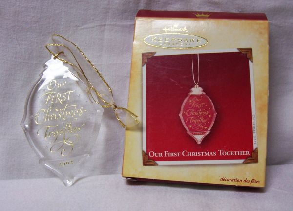 CHRISTMAS ORNAMENT - 2004 Hallmark OUR 1ST CHRISTMAS TOGETHER Xmas Tree Ornament