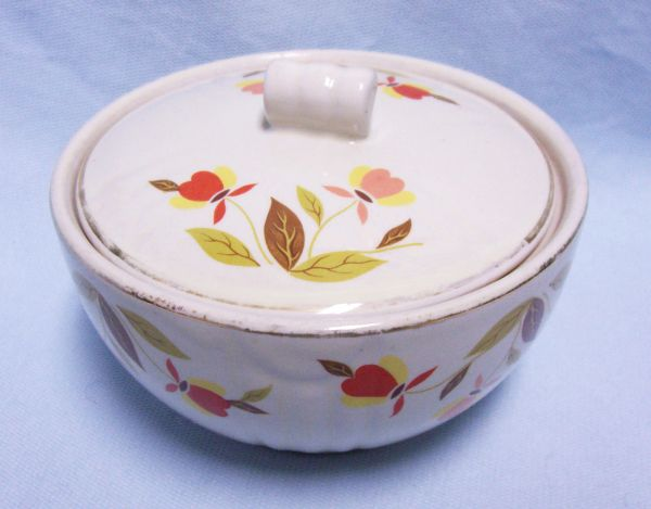 SUGAR BOWL: Autumn Leaf by Halls Sugar Bowl with Tootsie Roll Lid