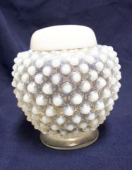 GINGER JAR: Hobnail French (Opalescent) Ginger Jar with Lid by Fenton