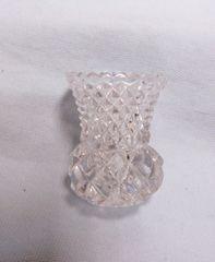 TOOTHPICK HOLDER/MATCH STICK HOLDER: Zajecar Lead Crystal from Yugoslavian