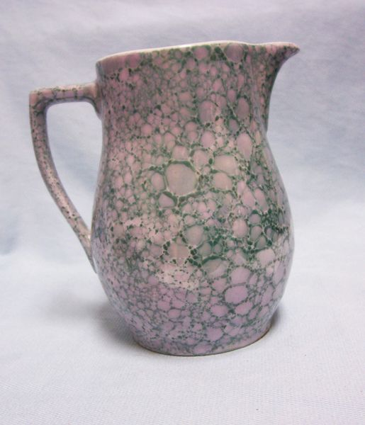 CREAMER/PITCHER: Vintage Bavarian RC Porcelain Creamer/Pitcher Square Handle