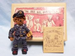 "BOYDS BEAR: ""The Shoe Box Bears"" Sergeant Bookum O' Reilly with Moveable Arms & Legs"