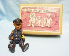 "Boyds Bear ""True Blue Shoe Box Bears"" Filbert Q. Foghorn 5"" Moveable Arms & Legs"