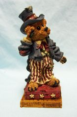 Boyds BOYDS COLLECTION: Boyds Bears & Friends Patriotic Figurine Uncle Elliott...The Head Bean Wants You