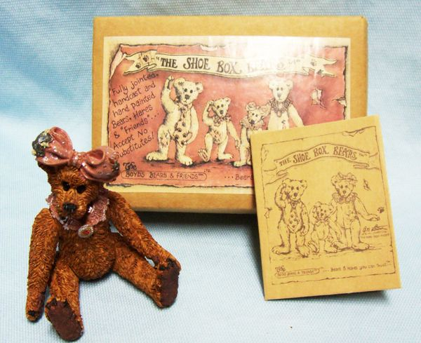 "Boyds Bear ""The Shoe Box Bears"" Maisey.. ""The Goil"" Grizberg Moveable Arms/ Legs"