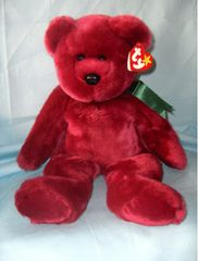 PLUSH BEAR: Ty's Cranberry Original Buddy Teddy Bear - TEDDY the BEANIE BABY