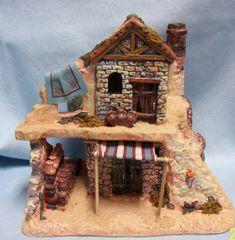Christmas Village Building: Bethlehem Christmas Porcelain Building Awesome Detail #02