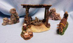 Bethlehem Village Christmas Porcelain Accessories Grinding Mill Brand: Member's Mark