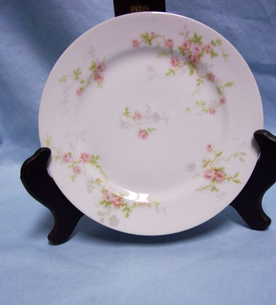 BREAD & BUTTER PLATE Theodore Haviland Limoges Plate Pink Spray Flowers