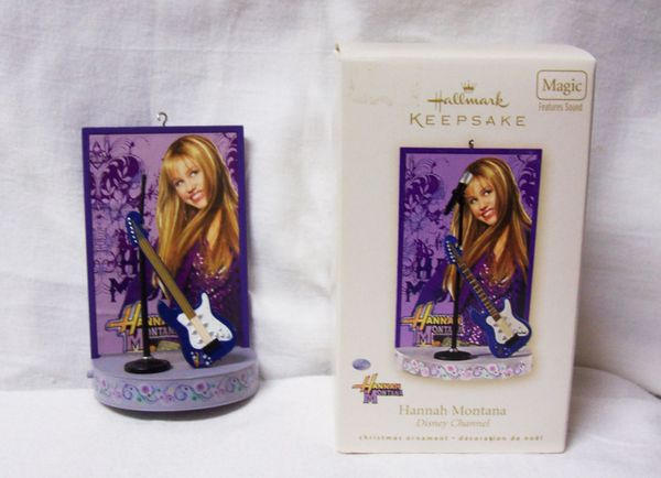 CHRISTMAS ORNAMENT 2008 HALLMARK Hannah Montana DISNEY Xmas ORNAMENT
