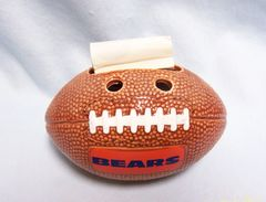 BEARS FOOTBALL PEN HOLDER -Russ Berry Co Bears Football Pen Desktop Holder #7723
