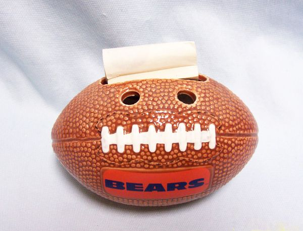 BEARS FOOTBALL PEN HOLDER -Russ Berry Co Bears Football Pen Desktop Holder #7723