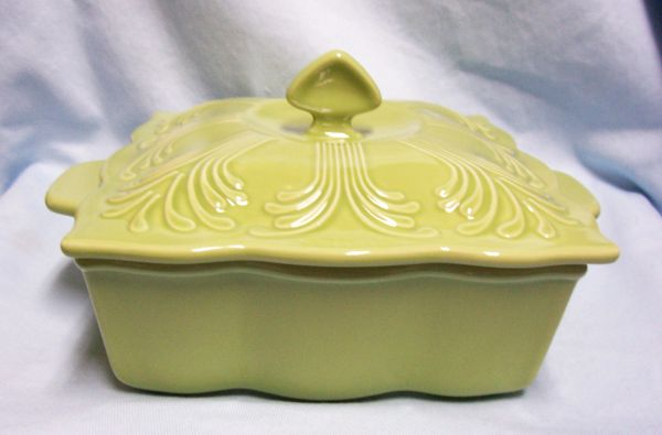 BAKER DISH Fiesta Green Telavera Collection Chantal Stoneware Square Dish & Lid