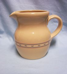 "PITCHER Lilian Vernon Country Flowers Decorative Ceramic Pitcher 6 1/2"" Tall"