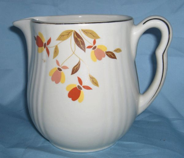 COFFEE POT Vintage Hall's Autumn Leaf Jewel Tea Rayed China Coffee Pot No Lid 8 cups