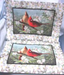 PLACEMATS: Pair Cardinals Dinner Placemats by Kay Dee Designs 100% Polyester