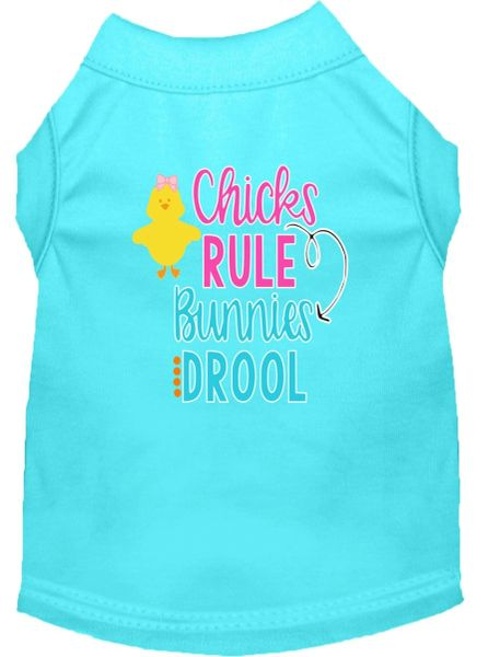 Dog Shirts: Easter Screen Print Dog Shirt CHICKS RULE BUNNIES DROOL in Various Colors & Sizes by Mirage