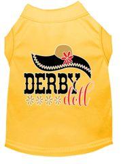Dog Shirts: Derby Dog Shirt Screen Print in Various Colors & Sizes - DERBY DOLL