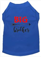 DOG SHIRTS: Cute Dog Gift for your Dog Screen Print Dog Shirt BIG BROTHER in Various Colors & Sizes