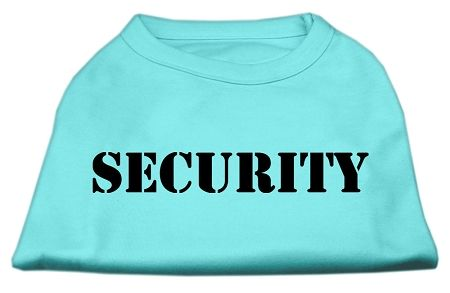 Dog Shirts: SECURITY Screen Print Dog Shirt in Various Colors/Sizes XS - XXXL (Small to Medium Size Dogs)