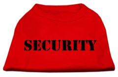 Dog Shirts: SECURITY Screen Print Extra LARGE Dog Shirt in Various Colors/Sizes (4XL - 6XL) by Mirage
