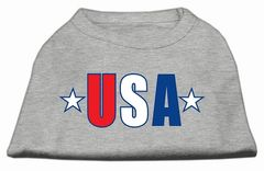 Dog Shirts: USA STAR Screen Print Cute Dog Shirt in Various Colors & Sizes by Mirage