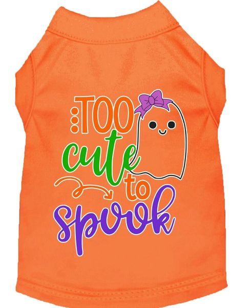 Funny Dog Shirts: Halloween Screen Print Dog Shirt in Various Colors & Sizes - TOO CUTE TO SPOOK GIRLY GHOST