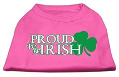 Dog Shirts: PROUD TO BE IRISH Screen Print Cute Dog Shirt in Various Colors & Sizes by Mirage