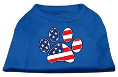 Dog Shirts: PATRIOTIC PAWS Screen Print Cute Dog Shirt in Various Colors & Sizes by Mirage