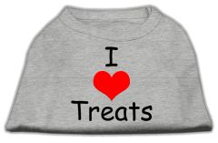 Cute Dog Shirts: I LOVE TREATS Screen Print Dog Shirt in Various Colors & Sizes by Mirage