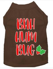 Funny Dog Shirts: Christmas Screen Print Dog Shirt in Various Colors & Sizes by Mirage - BAH HUMBUG