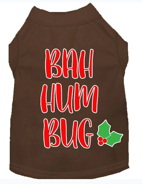 Funny Dog Shirts: Christmas Screen Print Dog Shirt in Various Colors & Sizes by Mirage - BAH HUMBUG