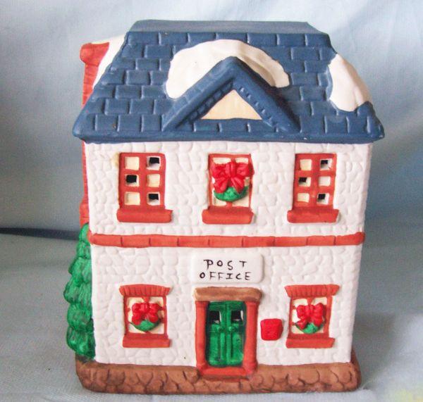 Dickensville CHRISTMAS VILLAGE 1993 Porcelain Lighted CHRISTMAS VILLAGE POST OFFICE