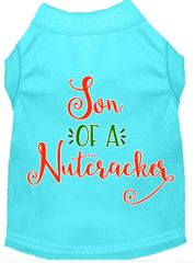 Funny Dog Shirts: Christmas Screen Print SON OF A NUTCRACKER Dog Shirt in Various Colors & Sizes